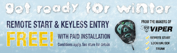 Free Remote Start & Keyless Entry with Paid Installation