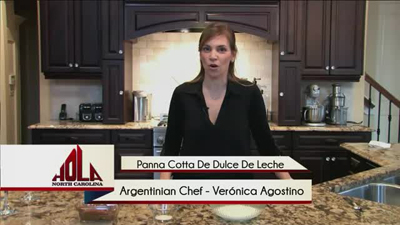 Cooking segment - Panna Cotta with Dulce de Leche