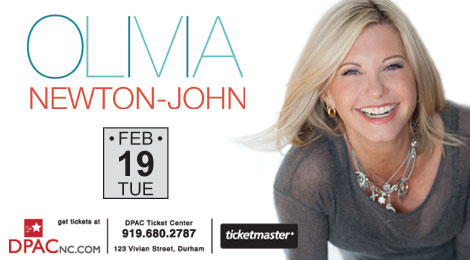 Enter to win tickets to see Olivia Newton-John Feb 19th at the DPAC!