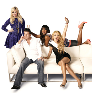 Demi, Simon, Kelly and Paulina