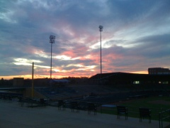 Sunset over DBAP